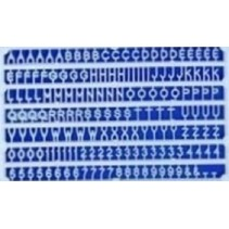 Slater's 2mm White Plastic Letters & Numerals1102
