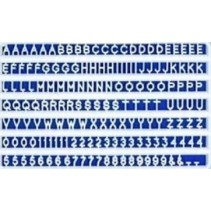 Slater's 3mm White Plastic Letters & Numerals 1103