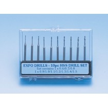 Expo 3/32in Shank Drill Set 10 pcs 11500