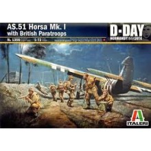 Italeri 1356 AS.51 Horsa Mk. I with British Paratroops D-Day Normandy 1944-2014