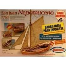 San Juan Nepomuceno's Cutter Wooden Model Kit