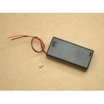 Enclosed Battery Box with Lead and Switch 21007