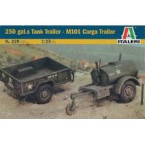 Italeri 229 250 gal.s Tank Trailer - M101 Cargo Trailer 1/35