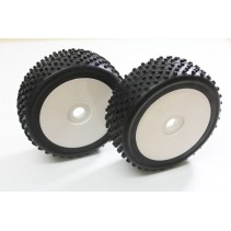 "Wheel Set Buggy ""Disc/Dirt"" White 1:8 (2)"