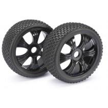 "Absima Wheel Set LP Buggy ""Dirt"" Black 1:8 (2) 2520011"