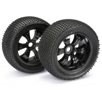Absima Wheel Set LP Truggy Black Dirt 1:8 (2) 2520013