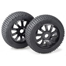 "Wheel Set Buggy ""Razor"" 10 Spokes/Dirt Black 1:8 (2)"