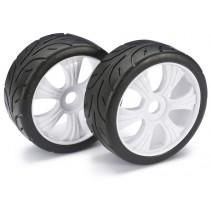 "Wheel Set LP Buggy ""Street"" White 1:8 (2)"