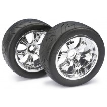 Wheel Set LP Truggy Street Chrome 1:8 (2)