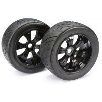 Wheel Set LP Truggy Street Black 1:8 (2)
