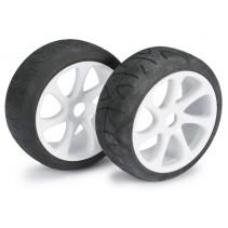 Wheel Set Buggy 7 Spoke/Street White 1:8 (2)