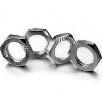 Absima 2560008 Hex Locknut 17mm Silver (4)