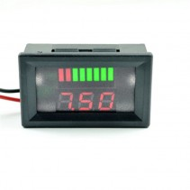 UK 12V Lead Acid Battery Indicator Intuitive Voltage Display LED Display Meter