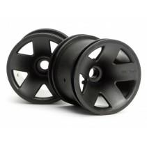 HPI 3041 Type F5 Truck Wheel Front/Black (2)