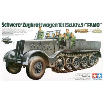 Tamiya 1/35 German SD.KFZ.9 Famo 18 Ton Half-Track Model Kit 35239