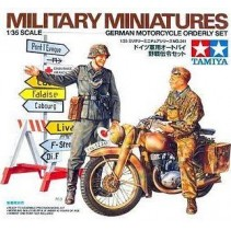 Tamiya 35241 1/35 Scale Military Model Kit German Soldier Motorcycle
