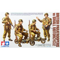 Tamiya 35337 British Paratroopers w/Small Motorcycle 1/35