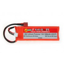 Energ-Pro 25C LiPo 1200 2S1P 5C Charge (XH) Battery 4403660
