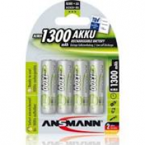 Ansmann MaxE Pre-charged Rechargeable 1300mAh AA HR6 Battery (4 Pack)