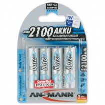 Ansmann maxE Rechargable Battery 4xAA 2100mAh 5035052