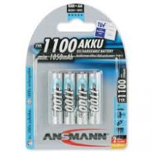Ansmann NimH 1.2V AAA 1100 blue bl4 rechargeable