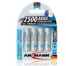 Ansmann NiMH-MaxE 1.2V AA2500 Blue (4)