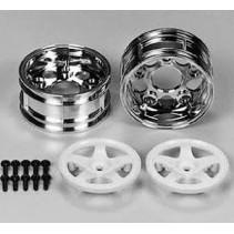 Tamiya 5 Spoke 2 Piece Wheels one pair 50672