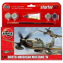 Airfix North American Mustang IV 1:72 Starter Kit