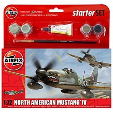 Airfix North American Mustang IV 1:72 Starter Kit