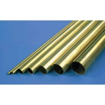K&S 1145 1/8 Round Brass Tube .014 Wall 36in (1)