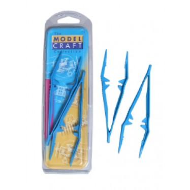 2 Plastic Tweezers (Serrated Tips)