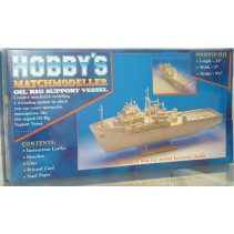 Hobby's Matchcraft Oil Rig Support Vessel Kit