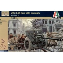 Italeri ZIS 3 AT Gun with servants -1/32