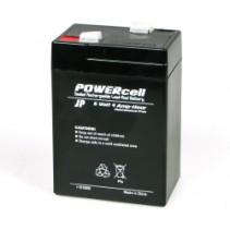 6V-4 AMP Powercell Gel Battery (Lead Acid)