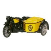 AA BSA Motorcycle & Sidecar 1:76 Diecast