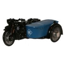 RAC BSA Motorcycle & Sidecar 1:76 Diecast