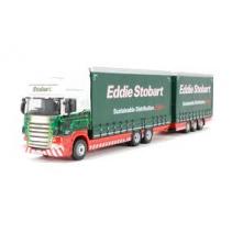 Oxford Diecast Scania Topline Drawbar Eddie Stobart 1/76