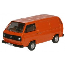 Brilliant Orange VW T25 Van 1:76 Diecast