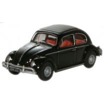 Black VW Beetle Scale 1/76 Diecast