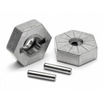 HPI Hex Wheel Hub 17mm (Silver) Savage X 86804