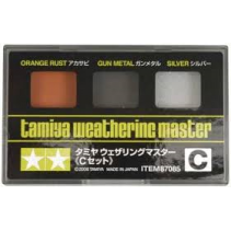 Tamiya Weathering Master C Set - Orange Rust, Gun Metal and Silver 87085