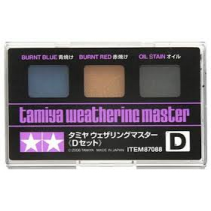Tamiya Weathering Master D Set - Burnt Blue, Red, Oil Stain 87088
