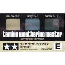 Tamiya Weathering Master E Set - Yellow, Grey and Green Dry Brush Effect