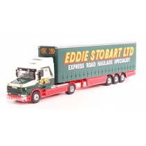 ATLAS EDITIONS 9110 1/76 Scania T Series Curtainside Trailer Eddie Stobart DieC