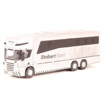 ATLAS EDITIONS 9111 1/76 Scania Horsebox (Stobart Sport) Diecast