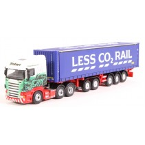 ATLAS EDITIONS 9122 1/76 Scania Highline R440 Skeletal Trailer Eddie Stobart Die