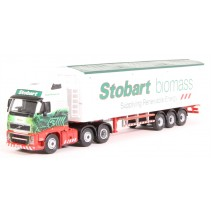 ATLAS EDITION 9136 1/76 EDDIE STOBART, VOLVO FH WALKING FLOOR BIOMASS Diecast