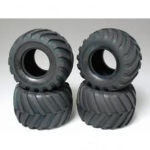 Tamiya Tire Set for Lunch Box, Pumpkin, Mad Bull 9805213