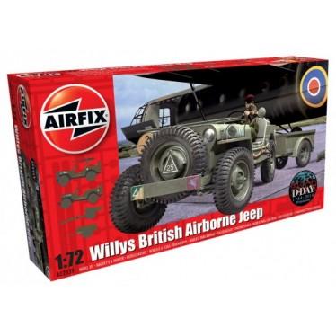 Airfix British Airborne Willys Jeep 1:72 A02339
