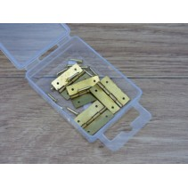 Expo 4x25mm Brass Plated Hinges with Pins A30043